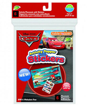 Activity Table Toppers, disposible stick in place table covers with stickers!