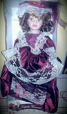 "Beautiful Dan Dee Collectible VICTORIAN Style   16"" Porcelain Doll"