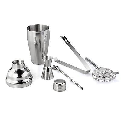 Set 5 Stainless Steel Cocktail 550ml Shaker Mixer Bar Drink