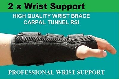 2 X Wrist Support Brace Aluminium Splint For Carpal Tunnel Syndrome CTS RSI