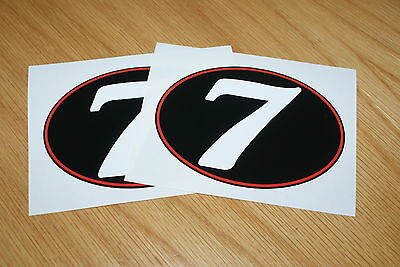 Number 7 Retro style race numbers (Pair)