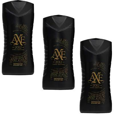 3x AXE Final Edition 2012 Revitalising Showergel - 250ml