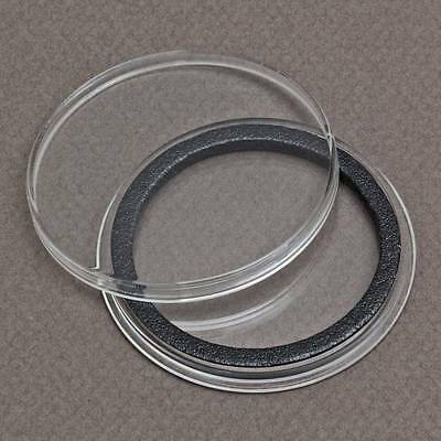 (25) 39mm Black Ring Air-Tite Coin Holder Capsule for 1oz Silver & Copper Rounds