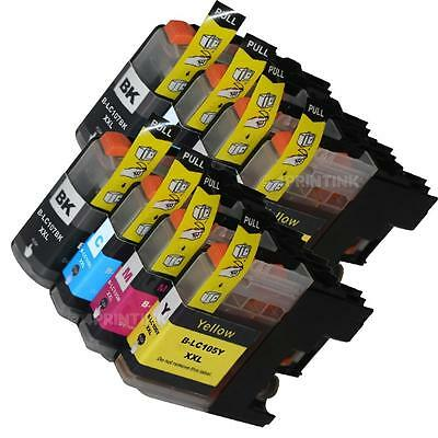 *8 Pack LC107 BK LC105 XXL Ink For Brother  MFC-J4510DW, MFC-J4610DW with CHIP