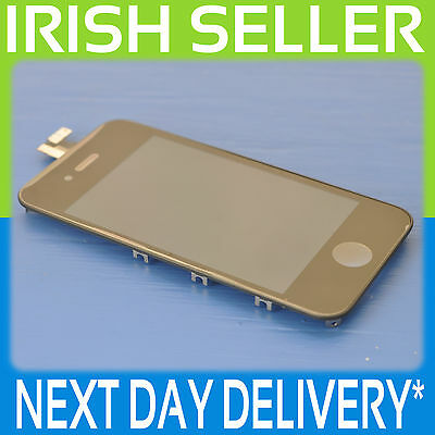 Iphone 4S Black Lcd Touch Screen Display Digitizer Glass Assembly With Frame