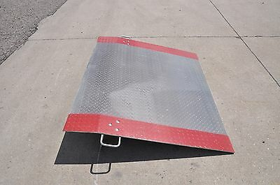 """Truck Container Loading Dock Plate Ramp 60"""" W x 48"""" L, 2900 lb, 3/8"""" Alum"""
