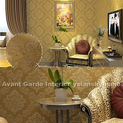 Non-woven Retro Damask Wallpaper 10M/Roll Feature Wall SYD in stock