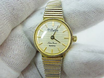 LUCIEN PICCARD,Dufonte,Stylish Round,GP Smooth Link Band, LADIES WATCH,982,L@@K!