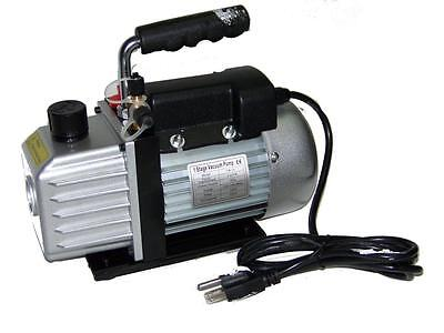 2.5 CFM 1 Stage Rotary Vane Deep Vacuum Pump Refrigerant AC Air Condition HVAC