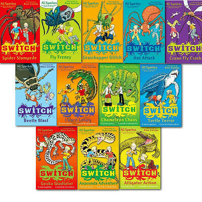 Ali Sparkes Switch 12 Books Action & Adventure Collection Paperback English