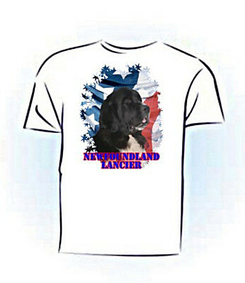 Newfoundland   lanseer   Stars & Stripes  PERSONALIZED  Pet  T shirt
