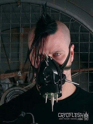 Cryoflesh Chaos Fiend Cyber Goth Industrial EDM Rave EMO UV Reactive Gas Mask