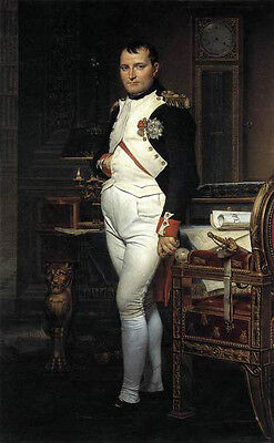 "Oil painting male portrait louis david napoleon in his study canvas 24""x36"""