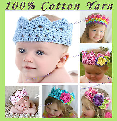 New Baby Boy Girl Crochet Crown Beanie Photo Prop 0-3, 3-6, 6-12 Months,1-3years
