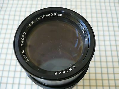 CHINAR Zoom Macro Lens 1:4.5 80-205mm for CANON 35mm Film Camera