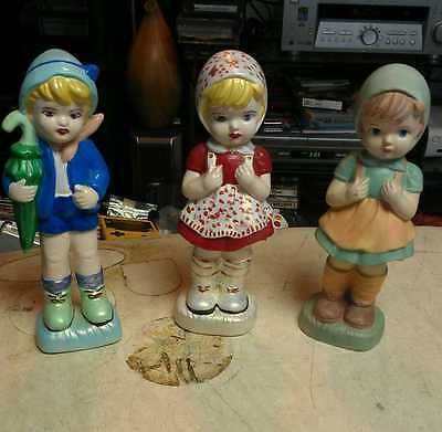 Girl and Boy Figurines H M Marking? USA HAND Painted