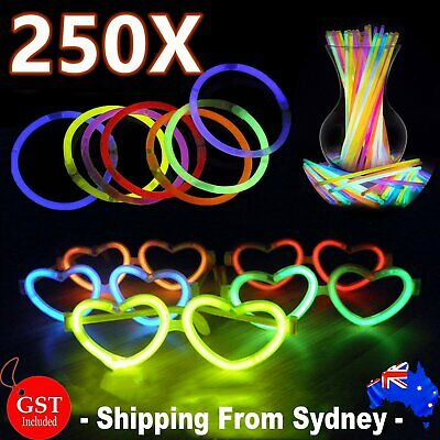 25X Multi Color Glow Sticks Skull Shaped Glasses Light Party Glow In The Dark