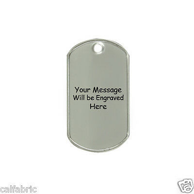 Military Dog Tags Custom Engraved Stainless Steel Dog Tag Pet ID Name Tag