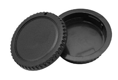 New Keep Cleaning For Canon DSLR Body Cap + Lens Rear Cap