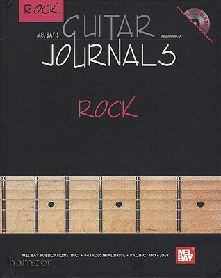 Guitar Journals Rock HARDBACK TAB Book with CD