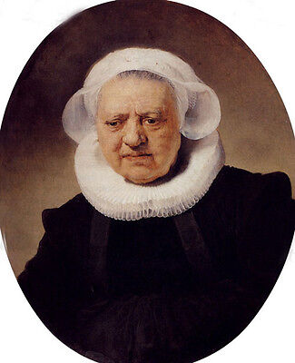 Oil painting Rembrandt Netherlands Portrait Of An Eighty-Three-Year-Old Woman