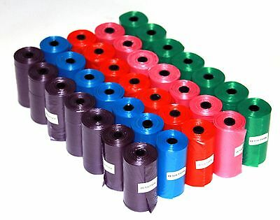 1020 DOG PET WASTE POOP BAGS PICK UP YOUR COLOR REFILL ROLLS With FREE DISPENSER