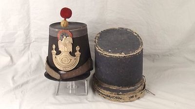 French 2nd Empire Louis Philippe Infantry Shako & Case