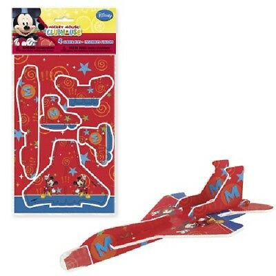 Disney MICKEY MOUSE CLUBHOUSE~ (4) Glider Plane Kits ~Birthday Party Supplies