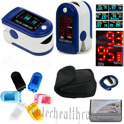 NEW LCD OLED Finger Pulse-Oximeter Spo2 PR Oxygen Monitor FDA CE,RUBBER COVER