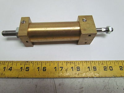"Pneumatic Air Cylinder Brass 1""Bore 1-1/2""Adjustable Stroke"