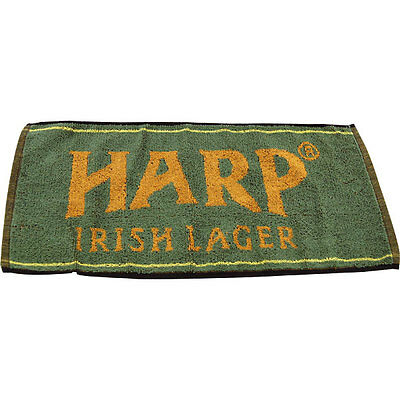 Official Harp Irish Lager Beer Towel - Green - Home Bar - Glassware Drying Spill