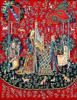 Margot de Paris Tapestry/Needlepoint Canvas – Lady with the Unicorn 'I'Ouïe