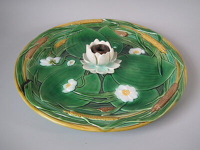 Large Minton Majolica lily candle holder