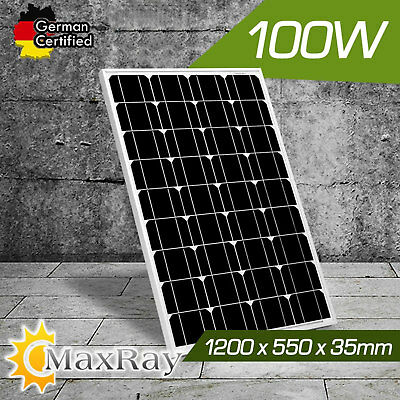 New MaxRay 12V 100W Solar Panel Home Power Generator Battery Charging Caravan
