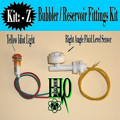 90 Degree Float Switch, Yellow Idiot Light HHO, Bubble, Reservoir, Tank Fittings
