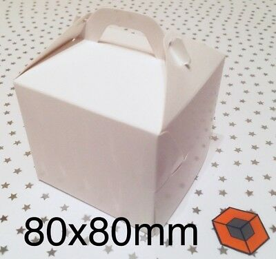 30 Single - Individual *** Cupcake boxes *** 80x80 mm £5.25 INC DELIVERY