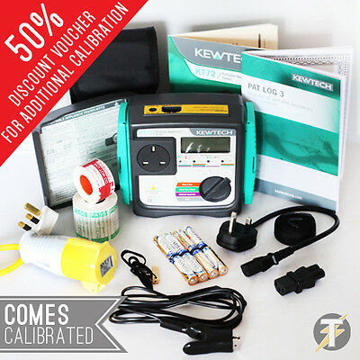Kewtech KT72 Battery Operated PAT Tester KIT47 + BONUS Accessories + CALIBRATION