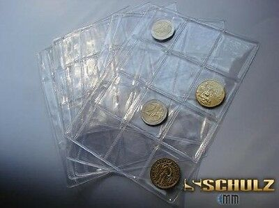 10 extra MEDIUM pocket size pages for SCHULZ MINI COIN ALBUM FOR 126 COINS