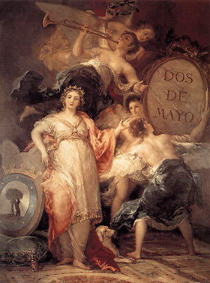 Oil painting Francisco de Goya - Allegory of the City of Madrid Fairy with angel