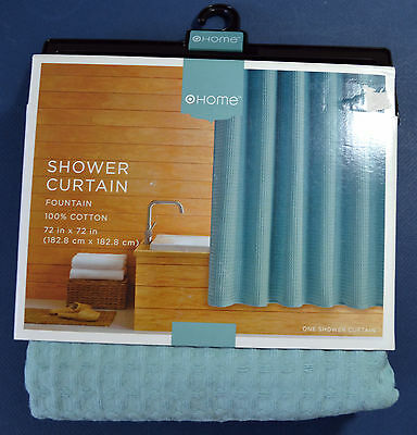 Target Home Shower Curtain Fountain 100% Cotton 72 x 72 *New*