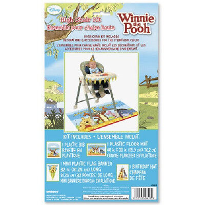 Disney Winnie the Pooh 1st Birthday ~HIGH CHAIR KIT ~ Party Supplies Decorations