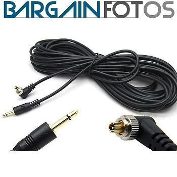 Cable de conexion 3.5 a PC sincro 10 metros para flash-ENVIO GRATIS