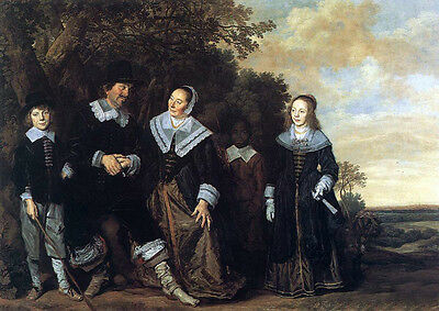 Huge Oil painting Frans Hals - Portraits Family Group in a Landscape canvas