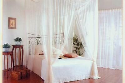NEW White Square  Bed Canopy 4 Poster Style + Gift Bag