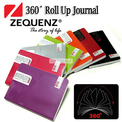 MONAMI Zequenz Boutique 360 Degree Roll Up Journal Diaries Middle 12.5x17.8cm