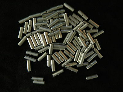 10-12 Gauge 100 Pk Uninsulated Non Insulated Butt Connector Crimp Terminal Wire