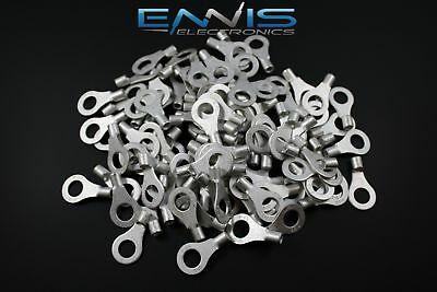 Consumer Electronics 18-22 GAUGE 25 PK  UNINSULATED NON INSULATED RING #10 CONNECTOR TERMINAL URR10 Car Audio & Video Connectors & Terminals