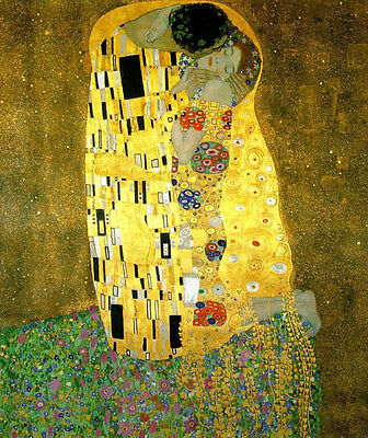 """Dream-art Oil painting Gustav Klimt - The Kiss Young lovers portraits canvas 36"""""""