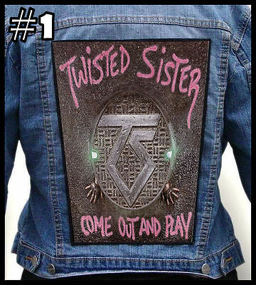 TWISTED SISTER  === Huge Back Jacket Patch Backpatch === Various Designs