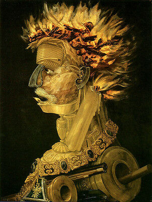 Beautiful Abstract Oil painting Giuseppe Arcimboldo - Fire Wonderful portrait